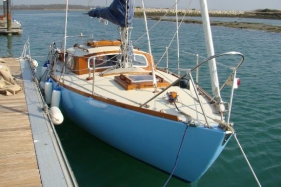 electric inboard boat motor example - 24' Top Hat yacht