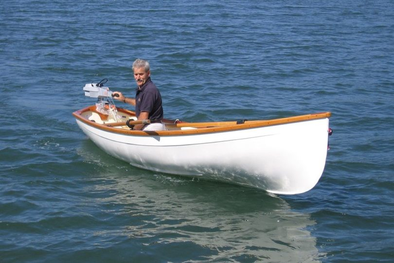 Torqeedo Travel 1003 on a rowboat