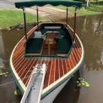 18' Classic River Boat with Bellmarine electric inboard motor