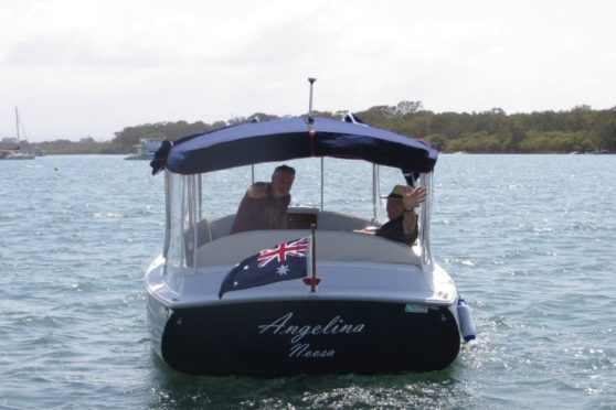 Duffy cuddy cabin electric boat, Noosa