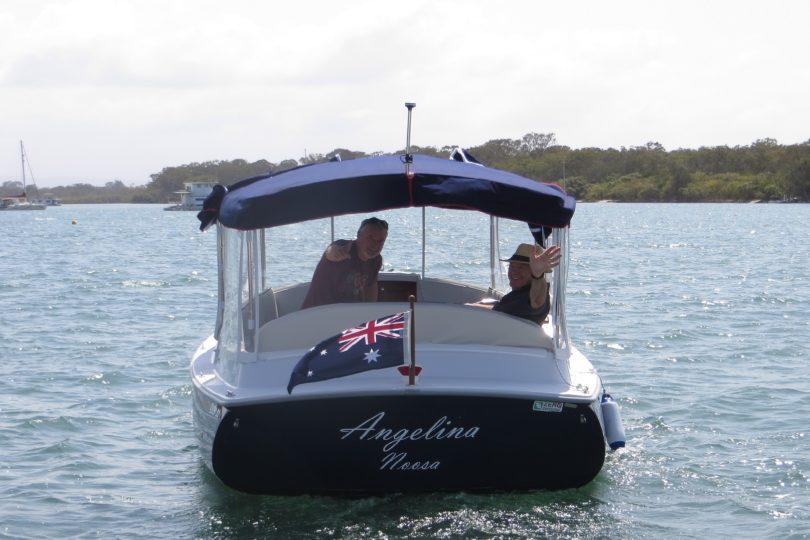Duffy cuddy cabin electric boat, Noosa