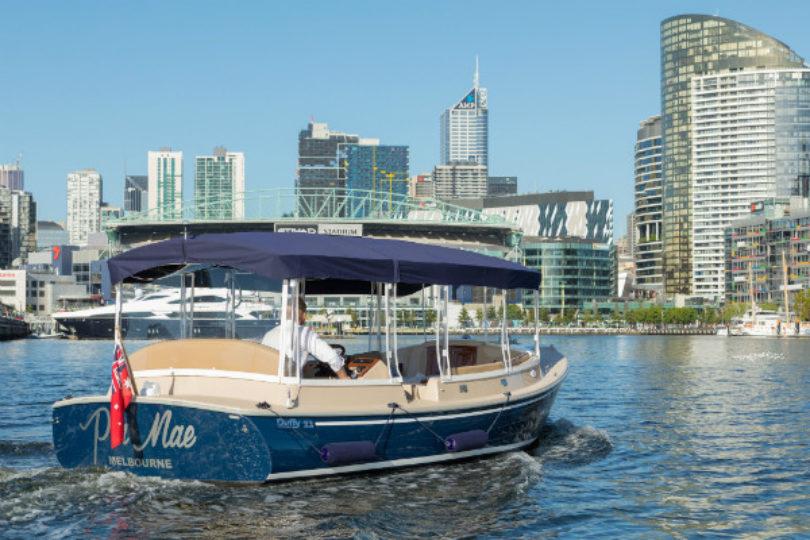 Duffy Cudy Cabin electric boat, Melbourne