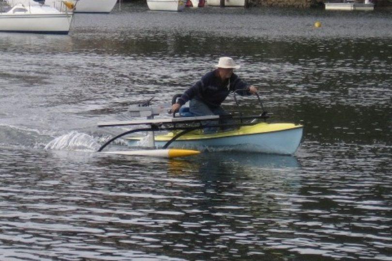 Torqeedo Travel 1003 on a solar kayak