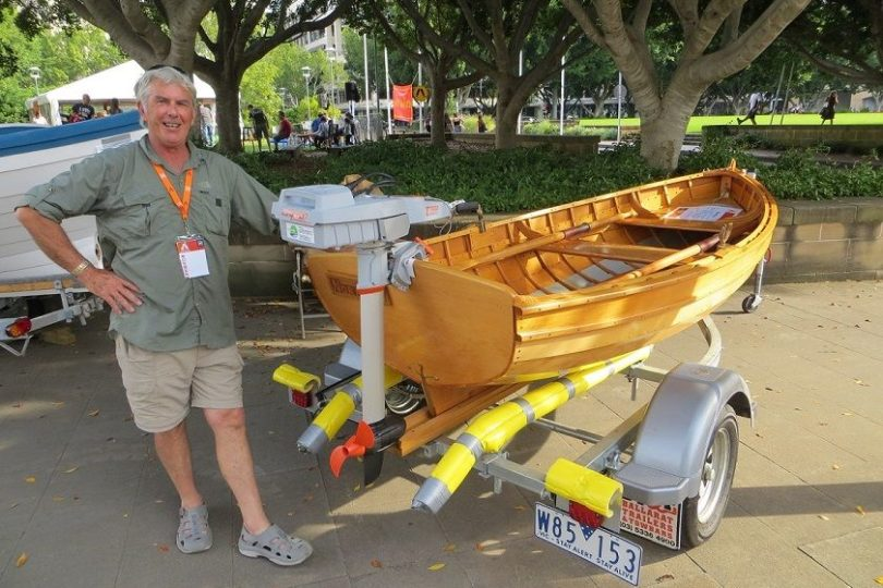 Torqeedo travel 1003 - wooden rowing boat example