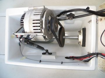 Installation example of budget electric inboard motor