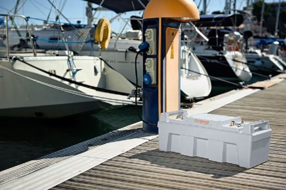 Shore power to charge boat batteries