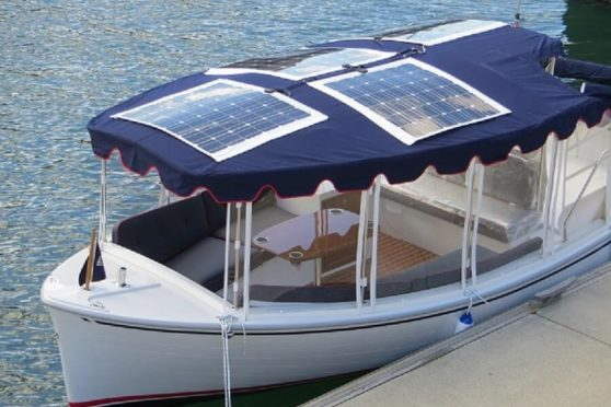 Solar power to charge boat batteries